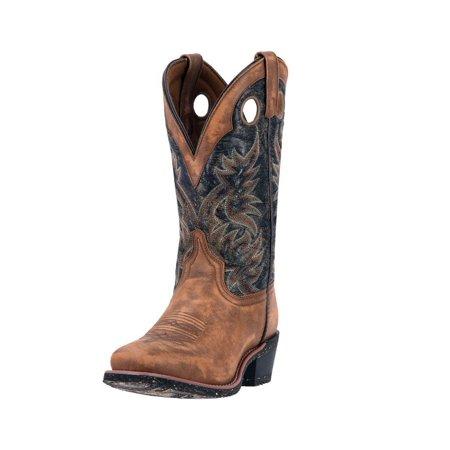 Laredo Western Boots Mens Stillwater Square Toe Stitching Brown 68358