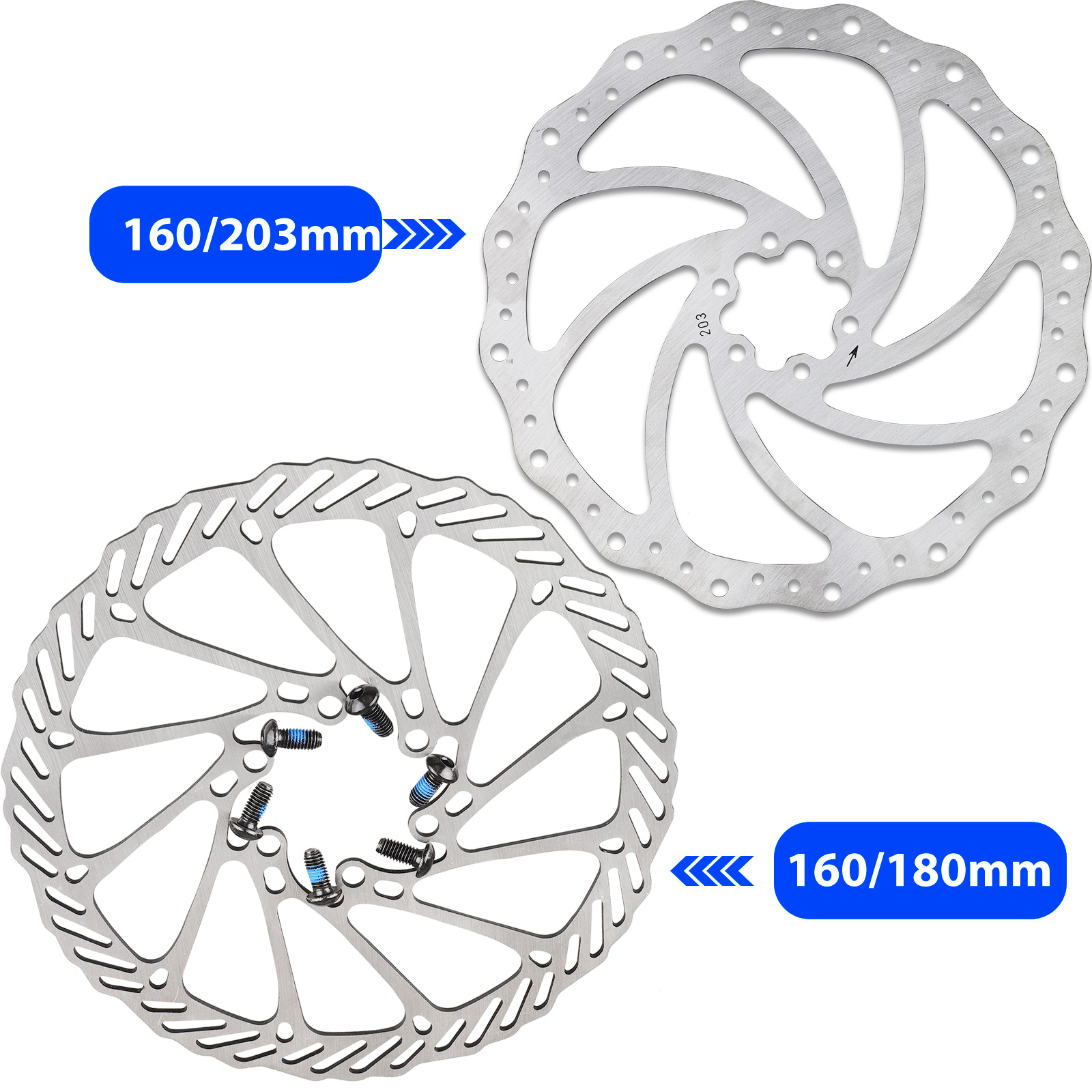 180mm Stainless Steel Bicycle Mountain Bike MTB Brake Disc Rotor 6 Bolts For G3