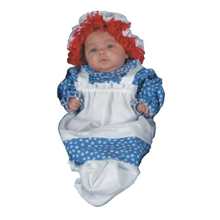 Raggedy Ann Halloween Costume For Toddler (WMU 544810 Raggedy Ann Bunting Baby)