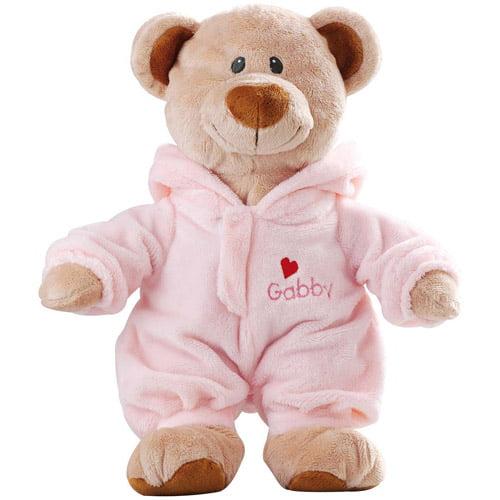 Personalized Pajama Bear, Pink