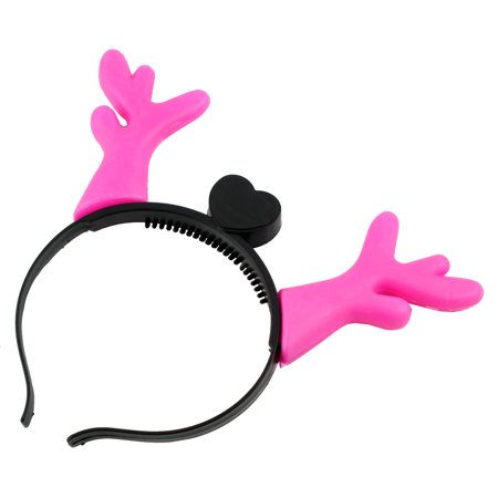 NEW LED Antlers Horns Novelty Light Up Headband for Christmas Party Pink