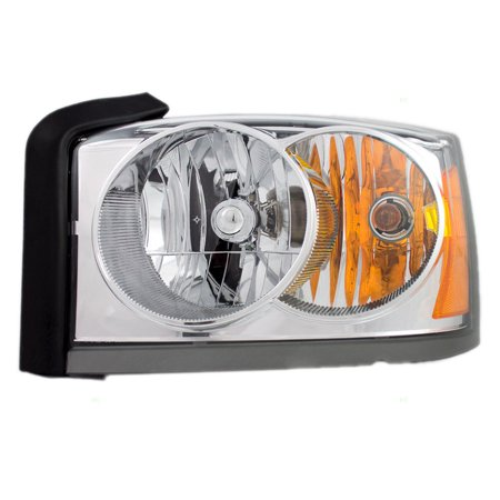 NEW HEADLAMP ASSEMBLY W/ CHROME BEZEL LEFT FITS 2006-07 DODGE DAKOTA 55077607AC