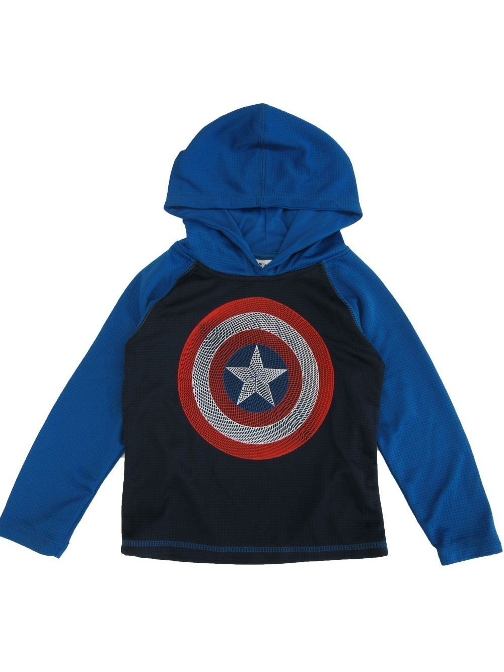 Lego Little Boys Royal Long Sleeve Capitan America Long Sleeve Shirt 4-7