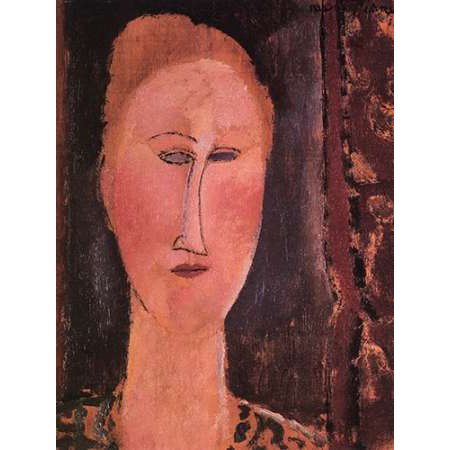 Head Of A Woman 2 Poster Print by Amedeo