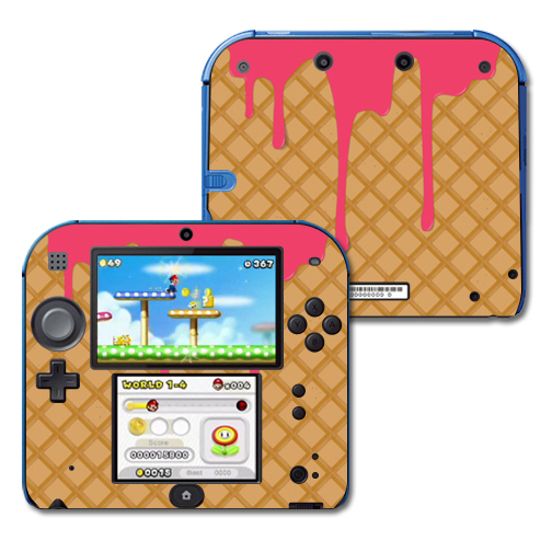 Mightyskins Protective Vinyl Skin Decal Cover for Nintendo 2DS wrap sticker skins Ice Cream Cone