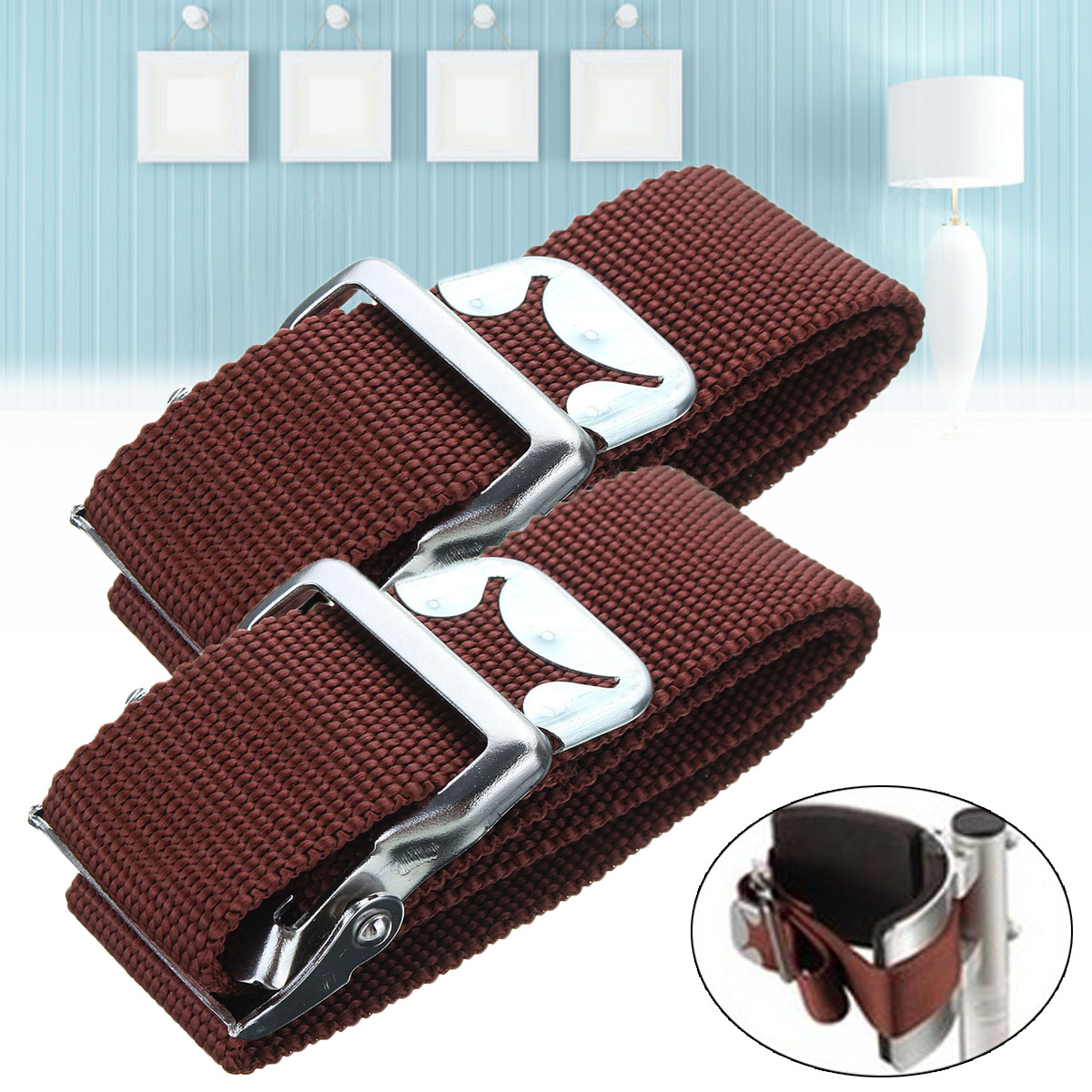 2Pcs Dura-Stilt Foot Arch and Toe Strap Kit Replacement for Drywall Painting