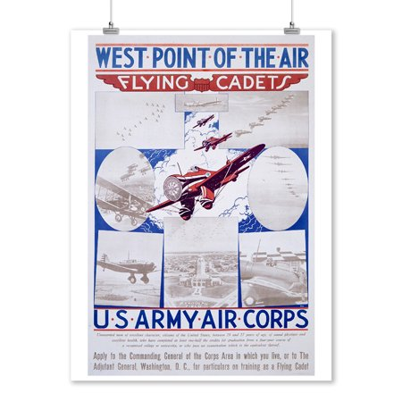 US Army Air Corps Vintage Poster USA c. 1940 (9x12 Art Print, Wall Decor Travel Poster)