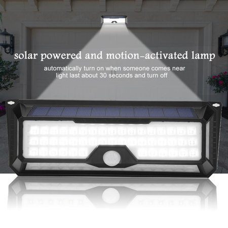 HURRISE LED Solar Power Waterproof Motion-Activated Light Garden Path Lamp with Fittings,Solar Power Garden Light, LED Solar Power Flood Light - image 2 of 8
