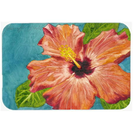 Carolines Treasures TMTR0316LCB Coral Hibiscus by Malenda Trick Glass Large Cutting Board - image 1 de 1