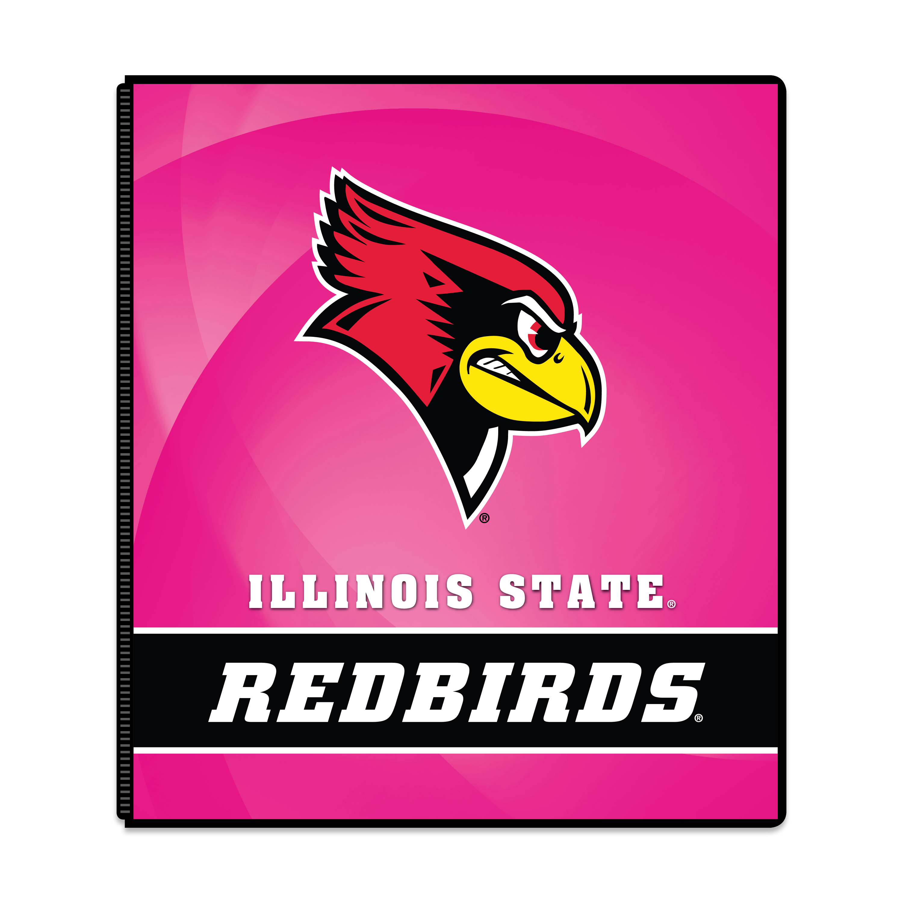 "NCAA Illinois State Redbirds 3 Ring Binder, 175 Sheet Capacity, 1"" Metal Rings"