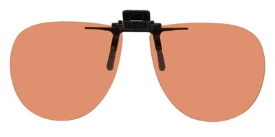 58mm Wide X 52mm High 134mm Wide Polarized Clip-on Flip-up Copper SunGlasses