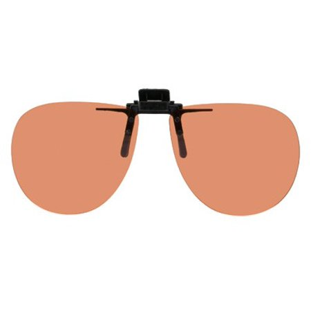 Polarized Clip-on Flip-up Copper Enhancing Driving Glasses - 58mm Wide X 52mm High (134mm (Wide Eye Glasses)