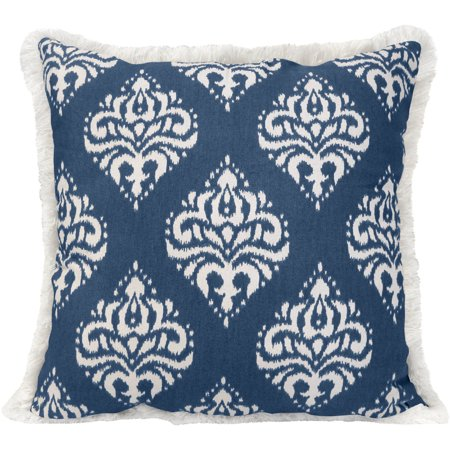 Better homes and gardens medallion pillow with fringe - Better homes and gardens pillows ...