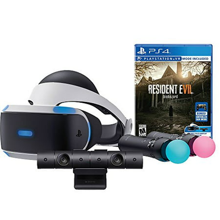 sony playstation vr resident evil 7 biohazard starter bundle 4 items vr headset move controller. Black Bedroom Furniture Sets. Home Design Ideas
