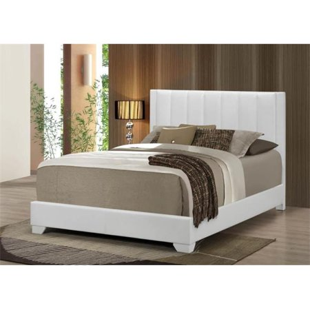 Myco furniture md3328t white moderno twin size bed for Moderno furniture
