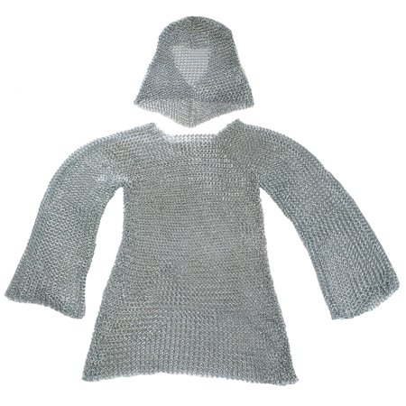 CHAINMAIL ARMOR - Coif and Shirt Set - MEDIEVAL (Medieval Battle Armor)