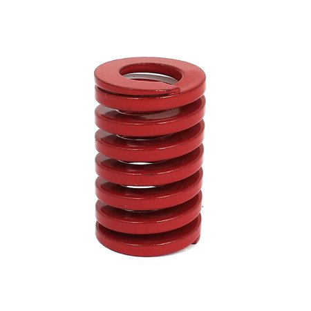 - 25mm OD 40mm Long Coil Medium Load Stamping Compression Mold Die Spring Red