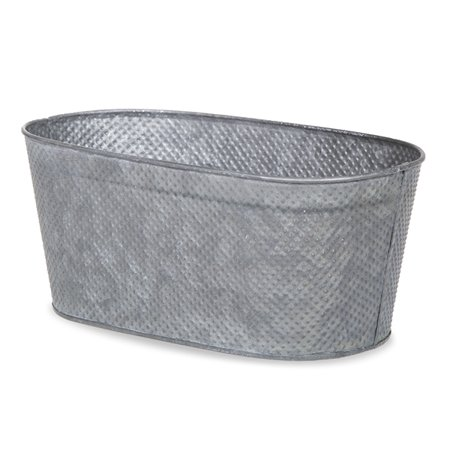 - Oblong Hammered Metal Container Medium 10in