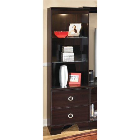 Ashley Pinella Pier Cabinet in Merlot