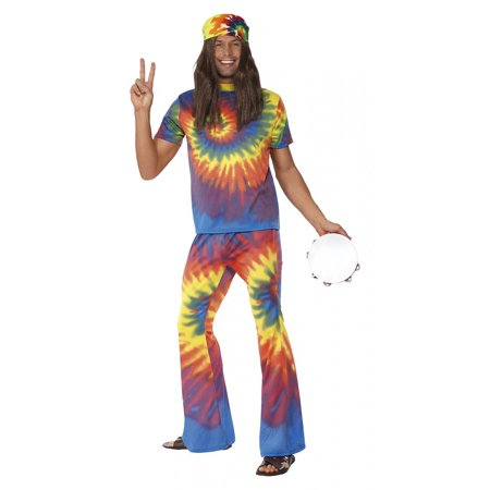 60's 70's Tie Dye Hippie Adult Costume