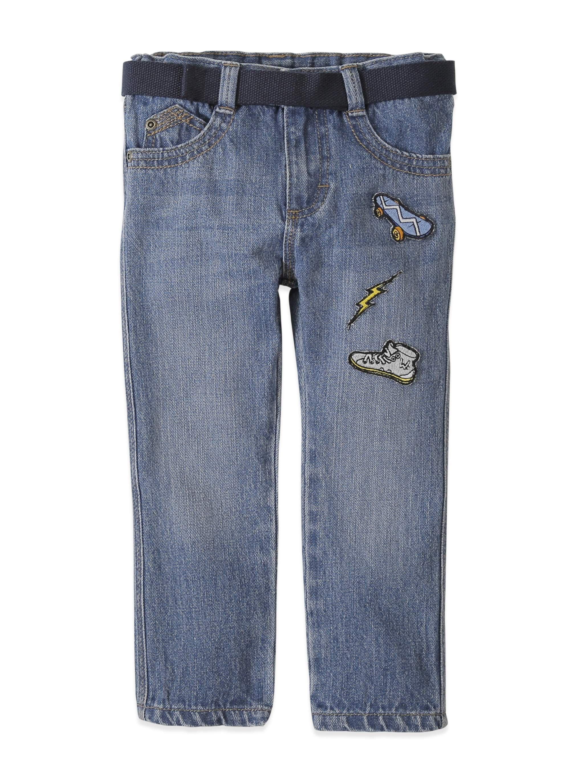Slim Straight Patch Jean (Toddler Boys)