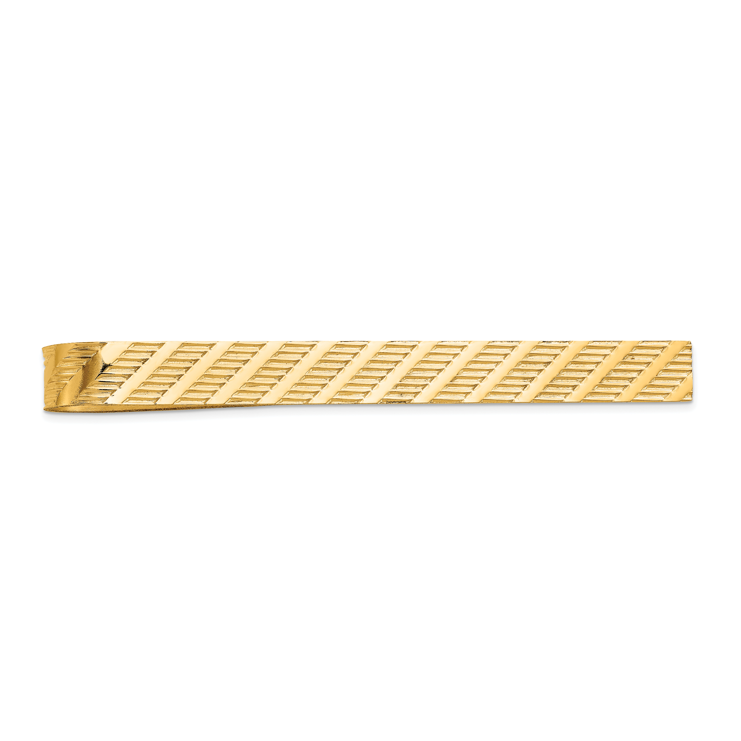 14k Yellow Gold Tie Bar Man Tac Fine Jewelry Gift For Dad Mens For Him - image 6 de 6