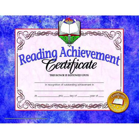 Hayes Reading Achievement Certificate, 8.5