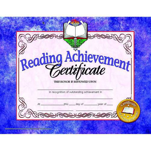 "Hayes Reading Achievement Certificate, 8.5"" x 11"", Pack of 30"