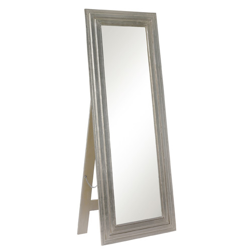 Majestic Mirror Contemporary Rectangular Silver Full length Standing Floor Mirror by Majestic Mirror