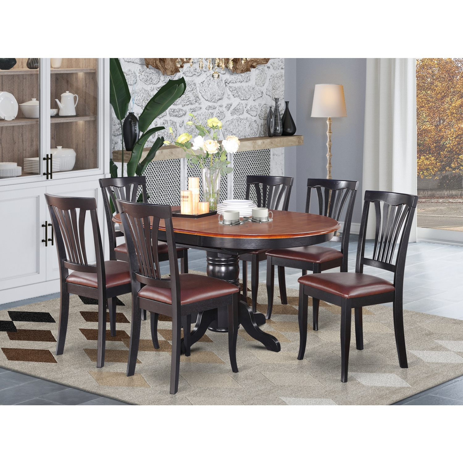 Dining Room Set Oval Table With Leaf, Oval Dining Room Set