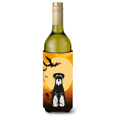 Halloween Standard Schnauzer Salt and Pepper Wine Bottle Beverge Insulator Hugger BB4299LITERK - Salt And Pepper Dog Halloween Costumes