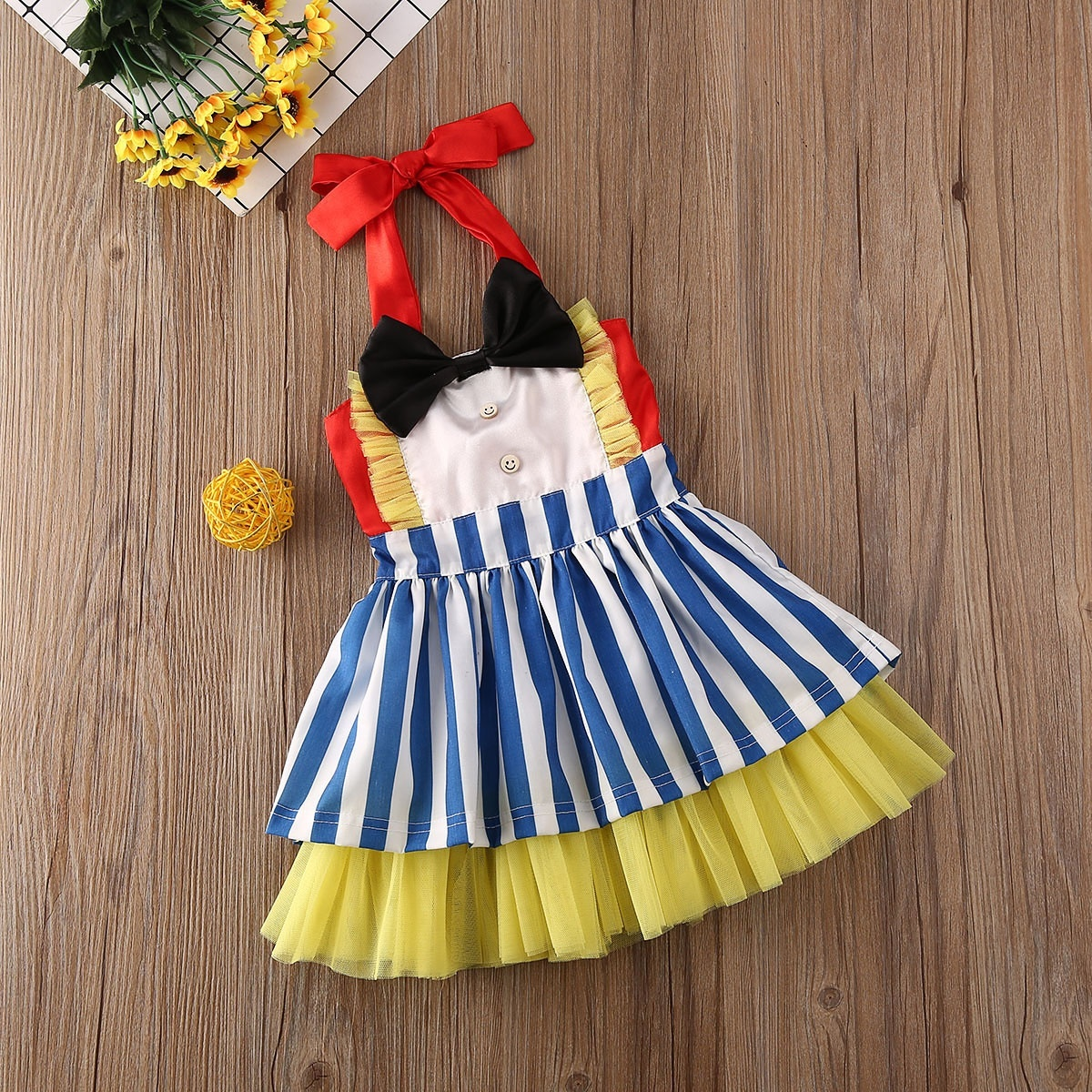 Toddler Dresses Baby Girls New Years Birthday Party Clothes Kid Girl Bow Lace Tutu Dress Walmart Canada