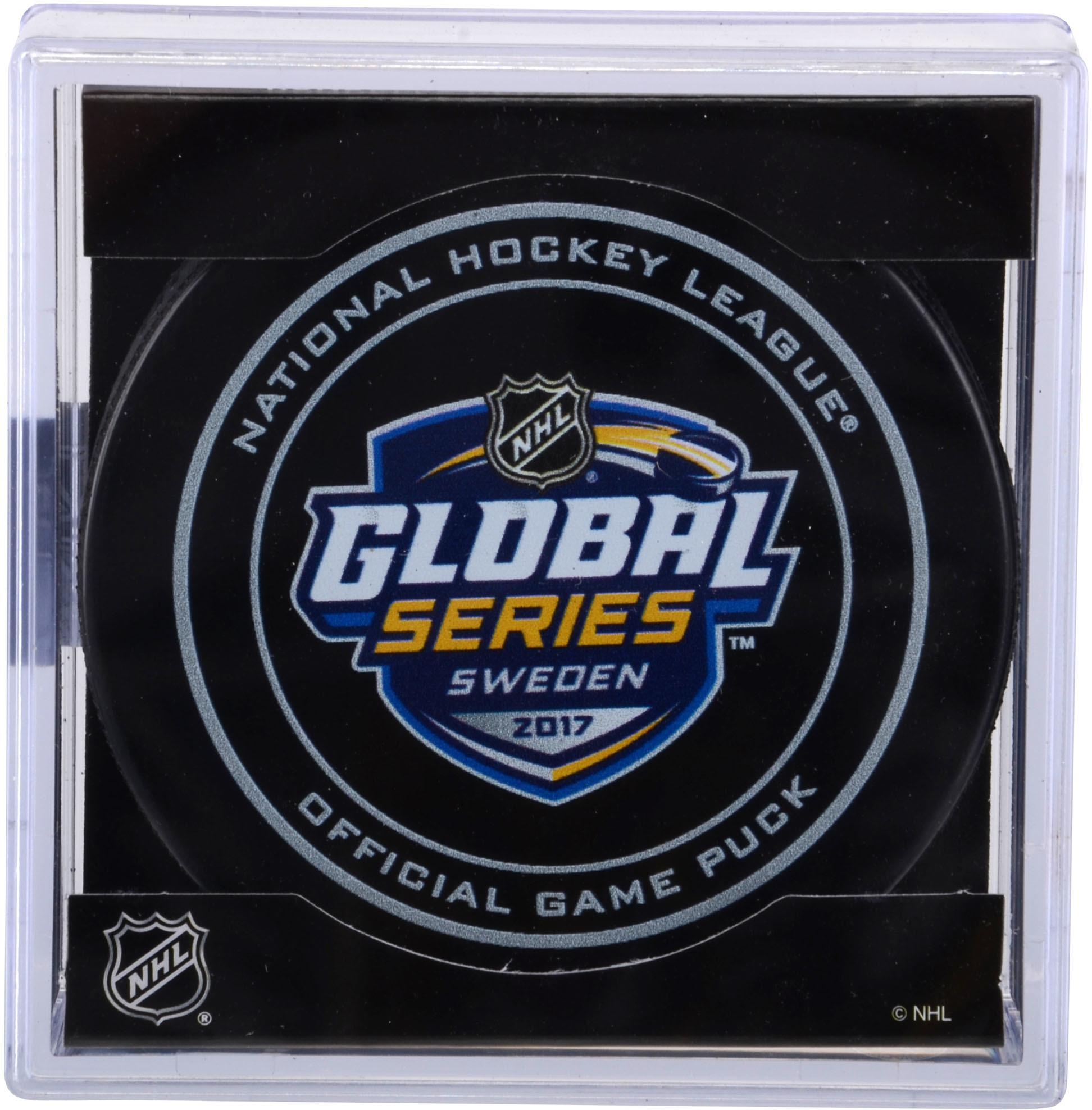 Colorado Avalanche vs. Ottawa Senators 2017 NHL Global Series Unsigned Official Game Puck