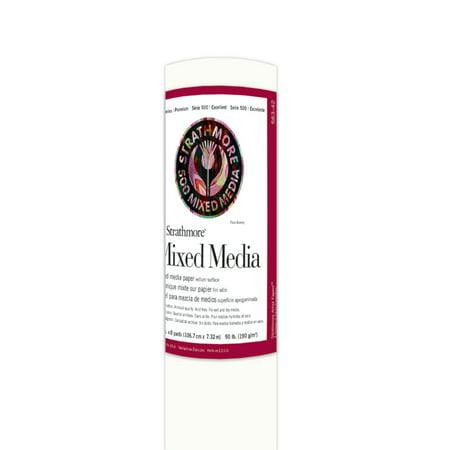 Strathmore Fine Art Paper Roll, 400 Series, Mixed Media, 42 x 8 yds., 90 lb. ()