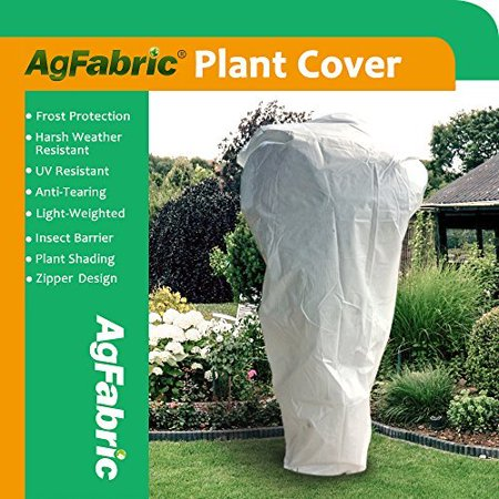Agfabric Rectangle Frost Protection Plant Cover Fabric Frost Blanket Outdoor Shrub Jacket for Winter Frost Cold,0.95 oz 144