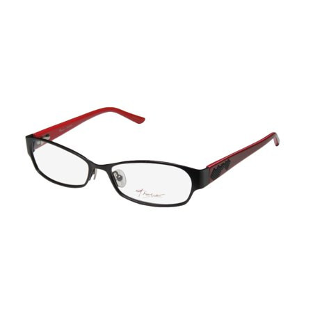22c081524c New Thalia Tacones Womens Ladies Designer Full-Rim Black   Red Gorgeous  Trendy Soft Nosepads Frame Demo Lenses 53-15-135 Spring Hinges Eyeglasses  Eyewear