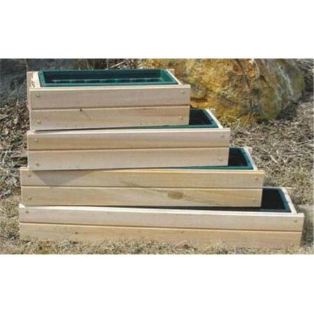 Maine Bucket PL30 30 Inch Plain Cedar Window Box - Natural