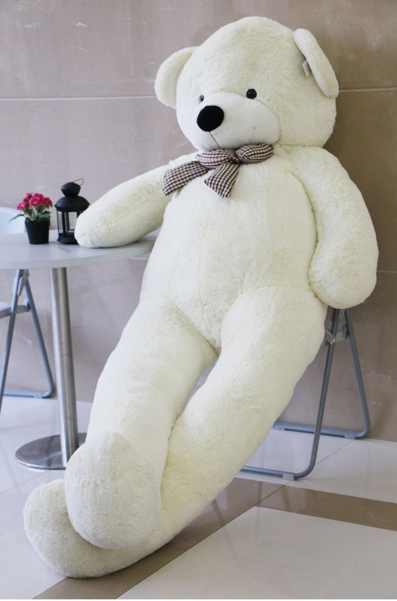 Click here to buy Joyfay Giant Teddy Bear (7.5 feet) in White- Big Stuffed Bear (91 inches), Giant Gift for Valentines Day,....