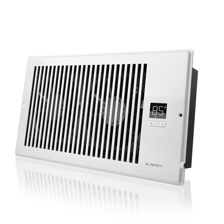 """AC Infinity AIRTAP T6, Quiet Register Booster Fan System, White, for 6"""" x 12"""" Registers ()"""