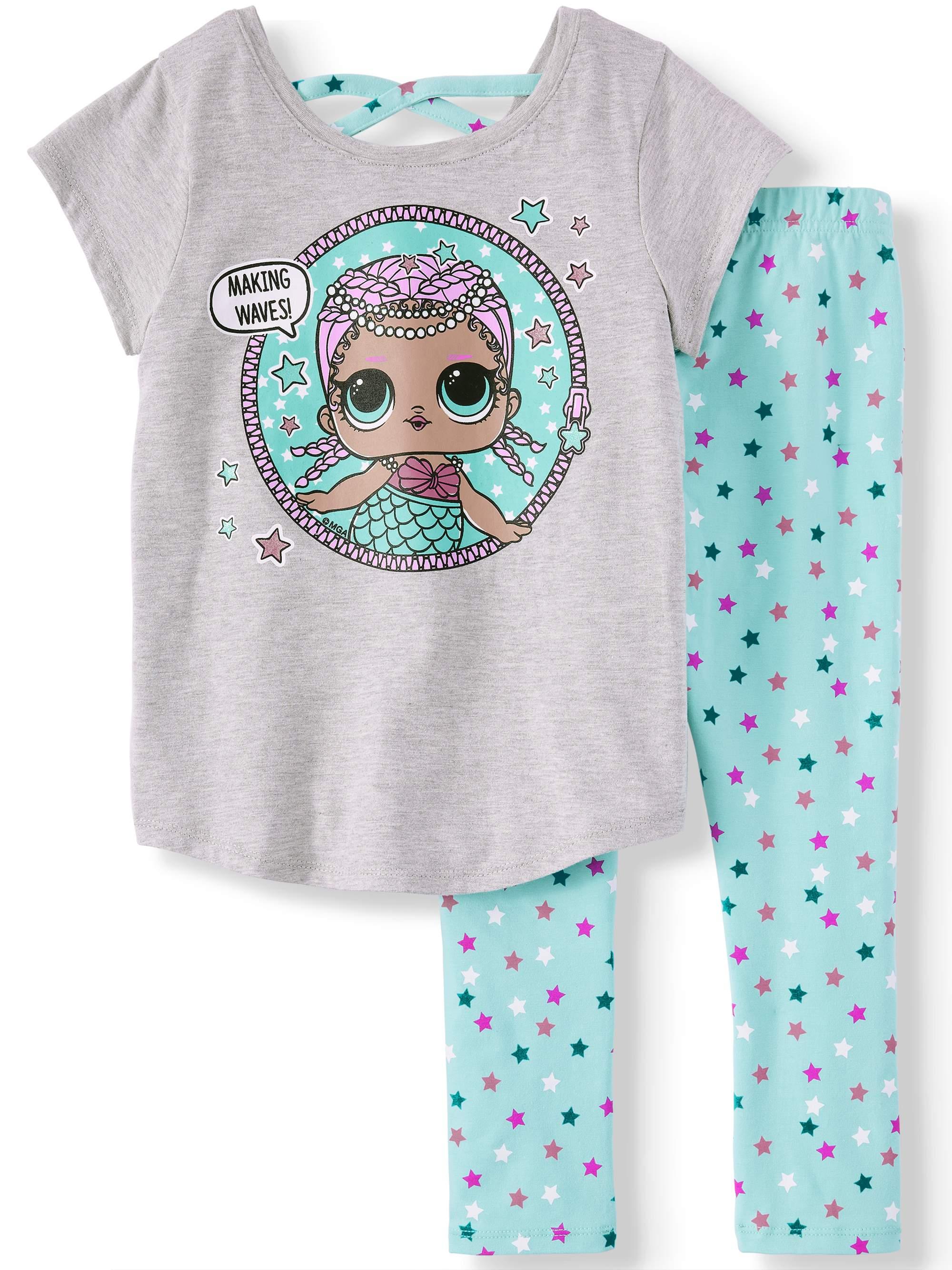 e914e03dc5bd LOL Surprise - Mermaid Cross Back T-Shirt and Capri Legging
