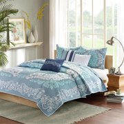 Madison Park Cameo 6 Piece Coverlet Set - (Blue/Full/Queen)