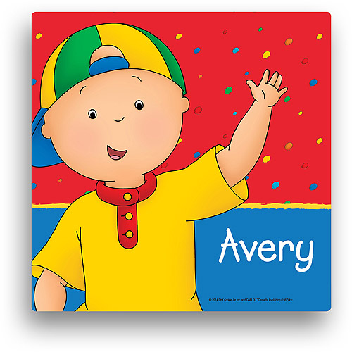 Personalized Caillou Hello Caillou 12' x 12' Canvas Wall Art