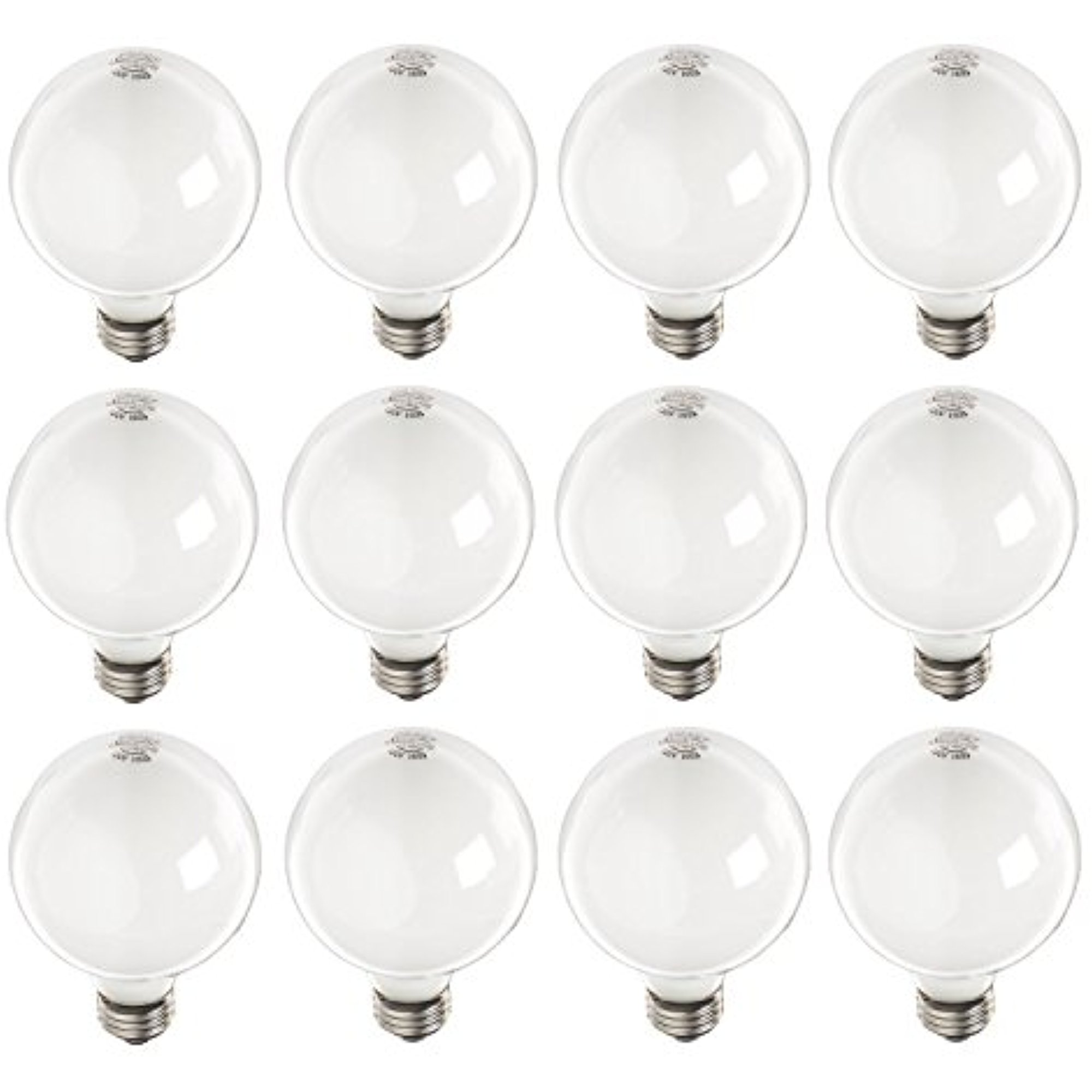 12 Pack Soft White Globe Bulbs 40-Watt 370 Lumens 130-Volt G25