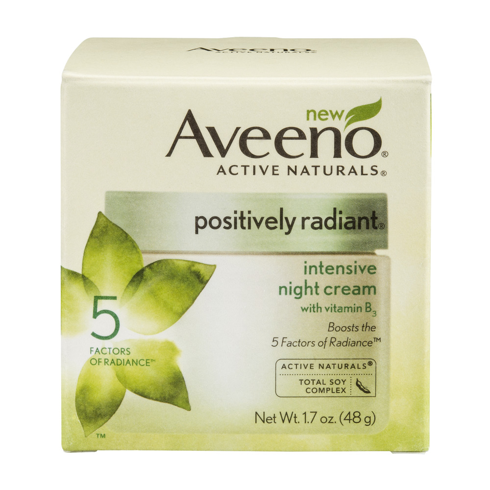 Aveeno Positively Radiant Intensive Night Cream, 1.7 OZ by Johnson & Johnson