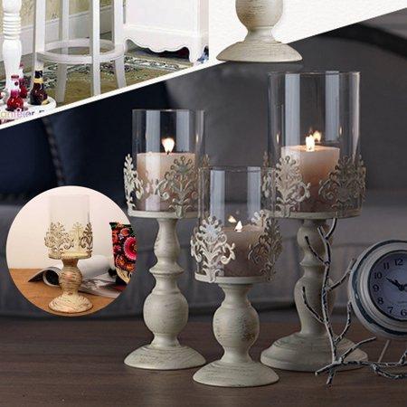 Wedding Lantern Centerpieces (Pillar Candle Lantern Glass Dome Holder Centerpiece Wedding Decorative Garden European)