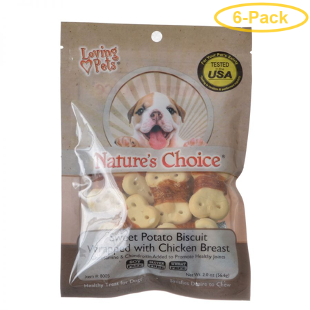 Loving Pets Nature's Choice Sweet Potato Biscuit Wrapped with Chicken Breast 2 oz - Pack of