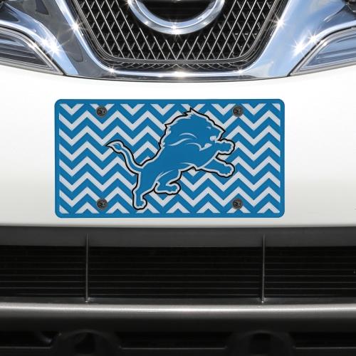 Detroit Lions Chevron Acrylic Laser Cut Plate - No Size