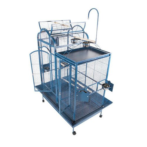 A and E Cage Co. Split Level Play Top Bird Cage Black by A & E Cage Company LLC
