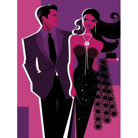 Couple Dressed Up for Night on the Town Print Wall