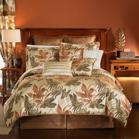 (Croscill  Bali Tropical Jacquard Woven 4 Piece Comforter Set)